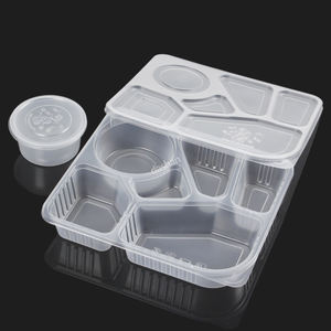 6 Compartiment Lekvrije Magnetron Takeaway Voedsel Doos Pp Lunch Opslag Container Wegwerp Plastic Lunchbox