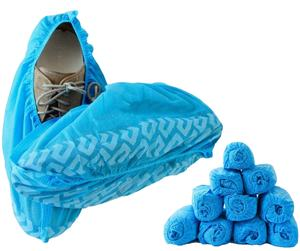 Shoe Covers Disposable Non Slip Boot Shoe Cover Blue Durable  Indoor | Your Home  Floors Carpet and Shoes Protector