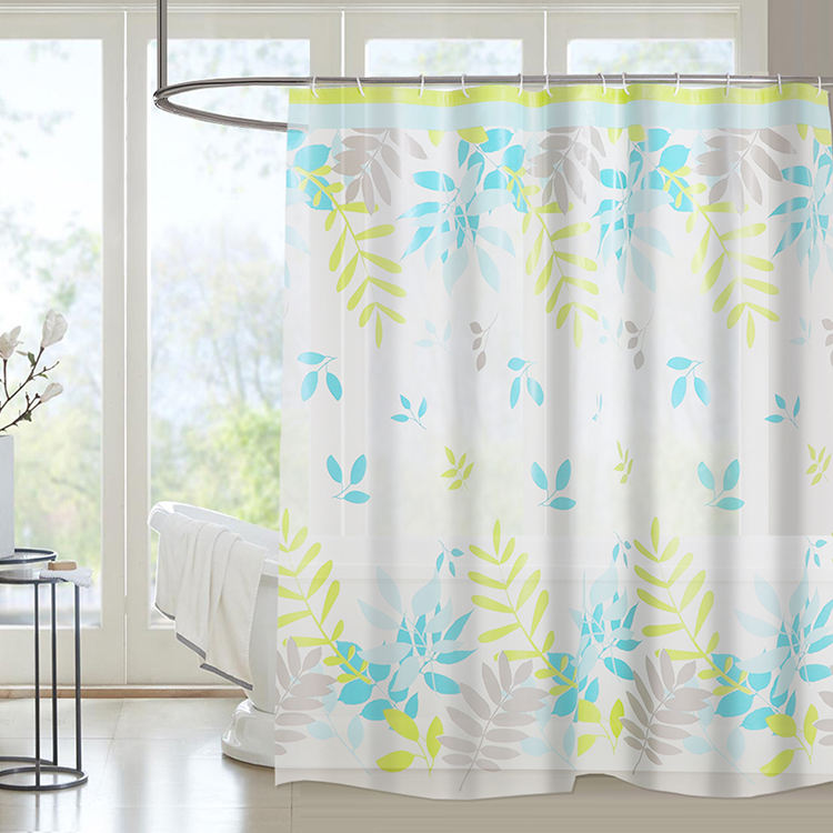 2020 New design elegant toilet elegant private label PEVA shower curtain