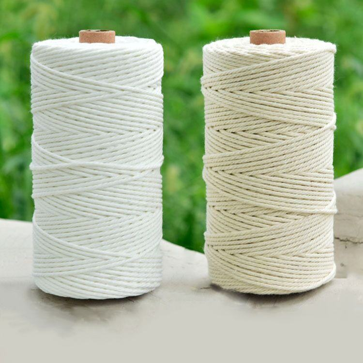 3mm Polyester And Cotton Braided String Craft Manufacturer Rope Macrame Cord