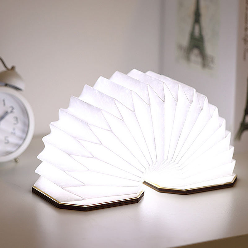 Portable Folding Table Led Book shape lights for home