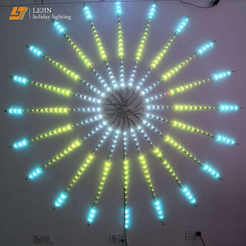 color changing digital led meteor rain light fireworks garland led motif light