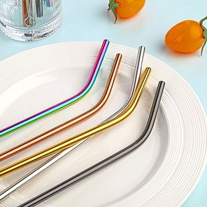 Colorful Titanized 304 Stainless Steel Drinking Straw Reusable Metal Straw