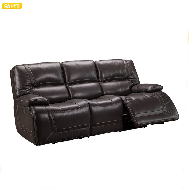 Cheap comforts heated leather sofa with recliner chair from China sofa