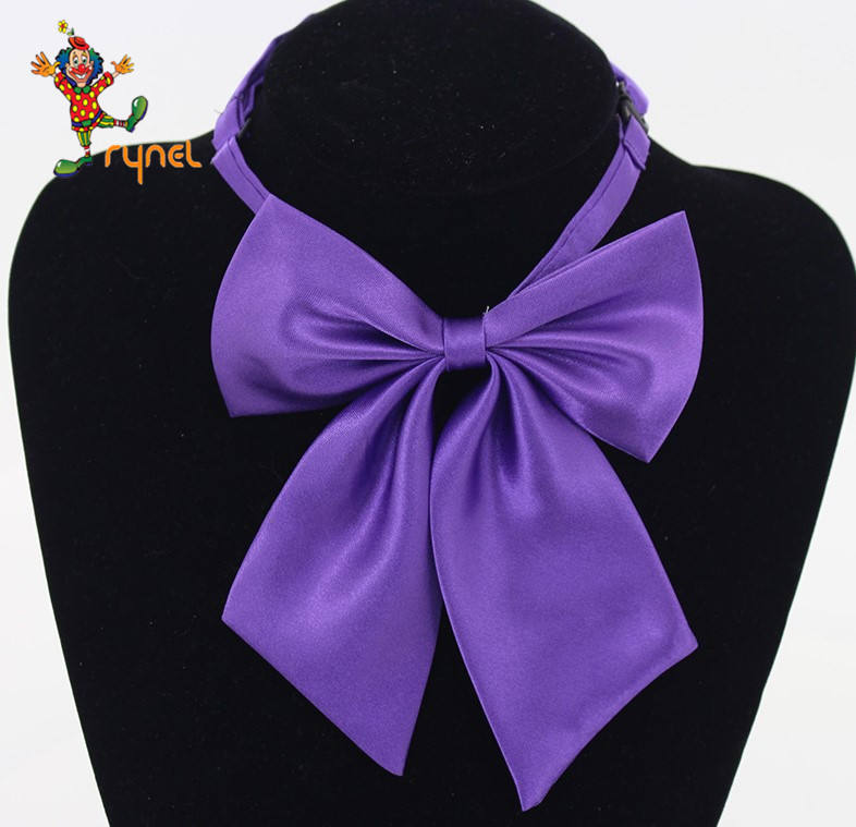 PGTE0639 Fashion Solid Color Tie Girl Neckties Beautiful Bow Tie Handmade Bow Tie