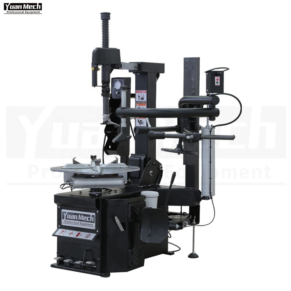 "Factory Price YuanMech N958B Tilt Back Fully Automatic 10-22 ""Tire ChangerとThree Positions Pressing Helper Arm C"