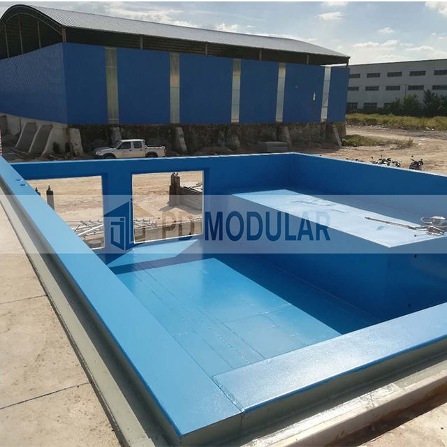 Prefab pool mobile modern good price endless swimming pool with filtration system