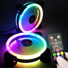coolmoon RGB FAN 120mm PC Computer cooling fan rgb with RF Remote Control  Speed  led  case fan  Factory Price