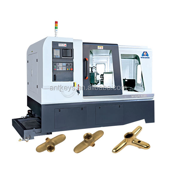 CNC 8 Spindles Machining Machine with 4th axis For Drilling And Tapping Brass Aluminum Metal Parts And Angle Valve