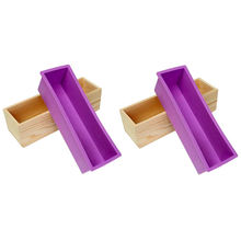 Rectangular Mold with Silicone Liner and DIY Loaf Swirl Tool DIY Soap Candle Mould 1.2kg Mould Soap Mold with Wood Box