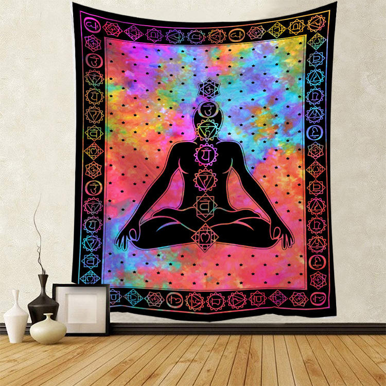 Tapestry wall hanging Twin Hippie Mandala Bohemian wall tapestry Psychedelic Indian Bedspread Magical Thinking Tapestry