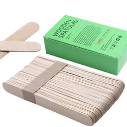 Sterile wooden Wax Applicators Waxing Spatula Hair Removal W