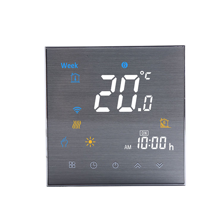 Electric floor heating water heater boiler wireless wifi thermostat smart touch programmable room thermostat