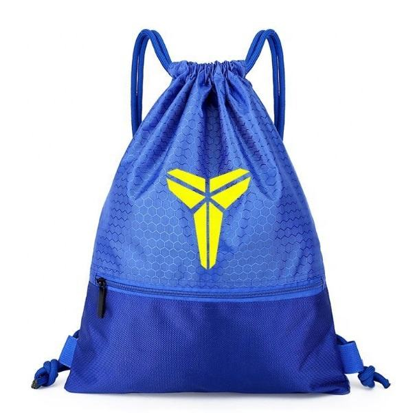 100% Polyester Waterproof Athletic Equipment Basketball Gym Sack Foldable Drawstring Bag With Printed Logo