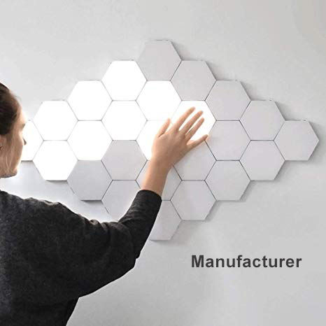 2W LED Panel Quantum Light Hexagonal Lamps Modular Touch Sensitive Lighting Magnetic Creative Decoration Wall Night Light