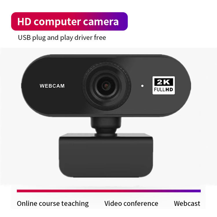 NEW 2K Webcam with Microphone Full HD Video Web Cam Computer USB Web Camera