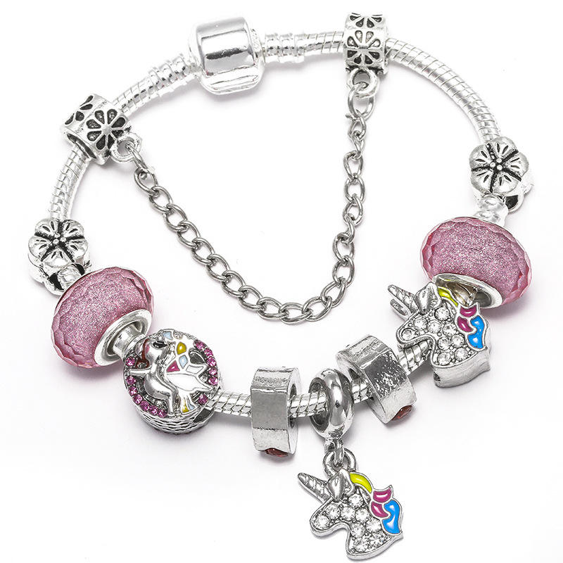 Authentic Silver Color Lovely Charm Bracelets With Cartoon Mouse Beads Fine Bracelet For Women Boy & Girl Jewelry Gift