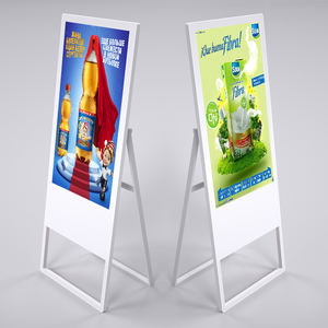 43 inch portable digital signage poster lcd advertising display restaurant standing menu display
