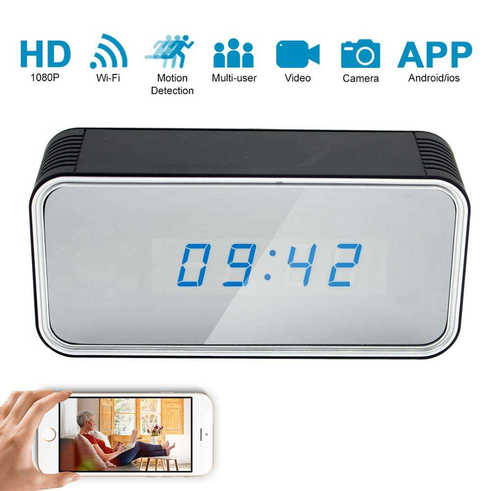 WIFI Schreibtisch uhr Versteckte 4K HD Spionage kamera Wireless Home Security Mini Clock Video <span class=keywords><strong>recorder</strong></span> Überwachungs-Camcorder