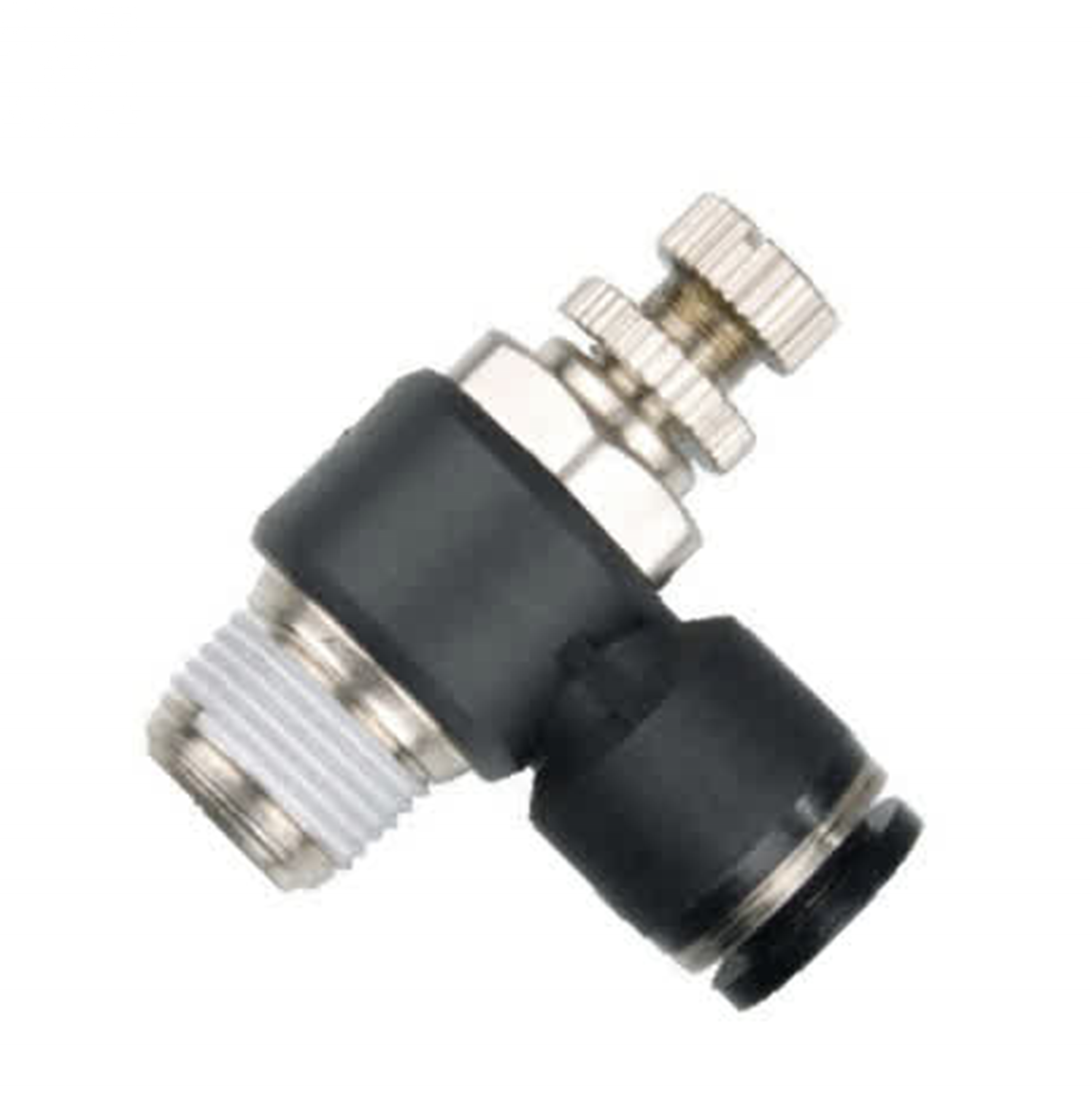SC 1/4, 5/16, 3/8, 1/2 Air Flow Control Throttle Speed Adjust valve One Touch Push to Connect Pneumatic Fittings
