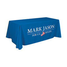 Custom Printed 300D Polyester 6ft 8ft Table Cover