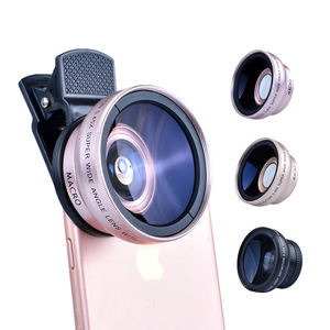 Universal 2 in 1 Wide Angle Lens Camera Mobile Phone Lenses Cell Phone Kit Camera Lens For iPhone Smartphone Accessories