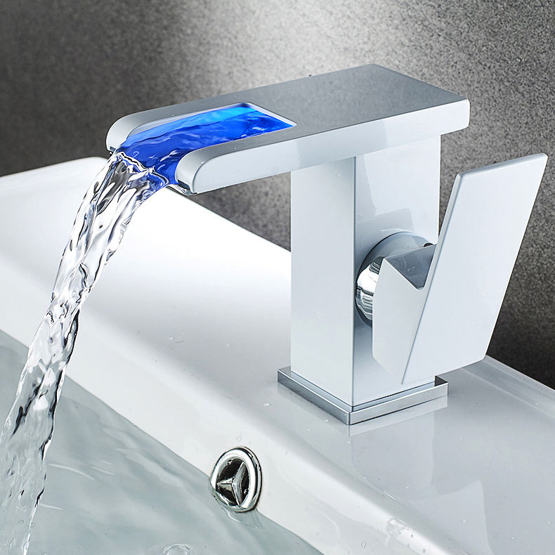 Deck Mounted Square LED Basin Faucets