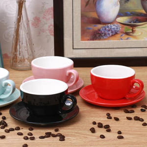 Ceramic coffee cappuccino espresso latte cup with saucer