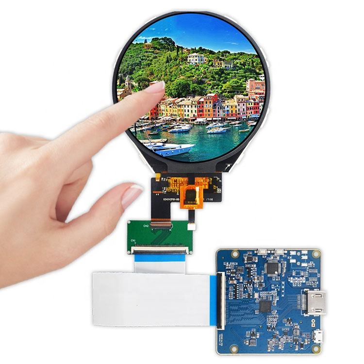 circular lcd 3.4 inch tft ips panel 800x800 PCAP touch screen 7h Hard coating round display for raspberry pi Meters