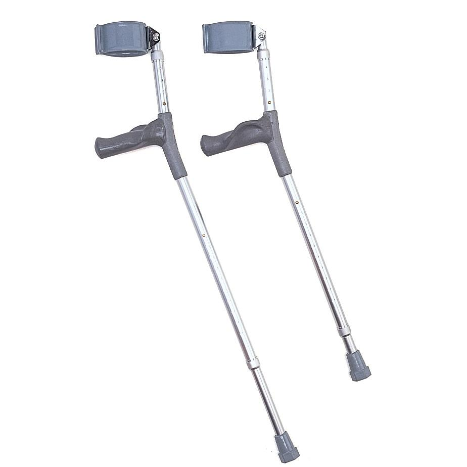 Anatomical ergonomic adjustable elbow crutch