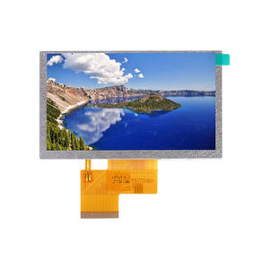 low price 5 inch square tft lcd display 800*480 high pixel RGB module with touch panel