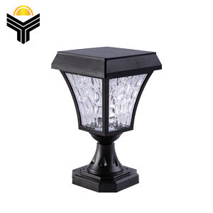 Modern simple design for night cars gate outdoor water proof aluminium solar led pillar light