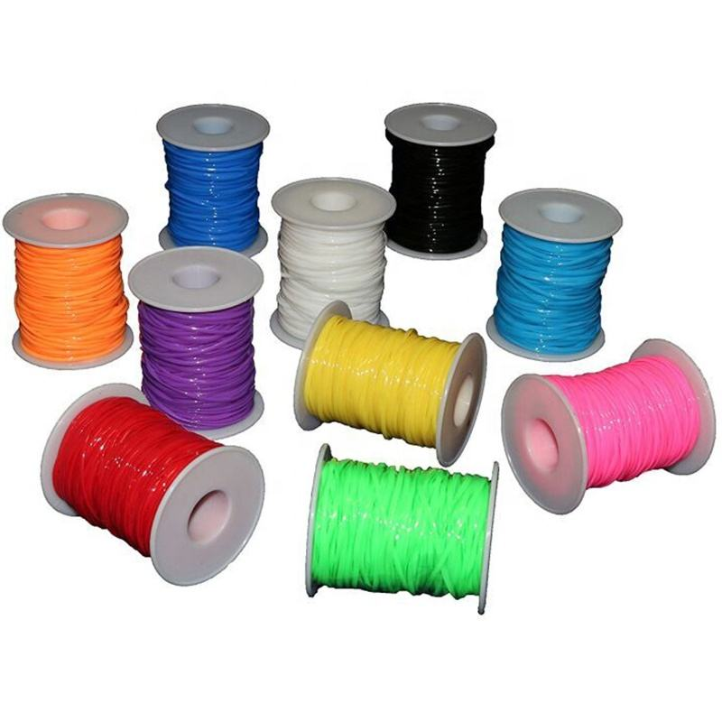 2.5MM Flat Scoubidou Strings 50 yards Plastic Lacing Cord for Bracelets Jewelry Making Craft