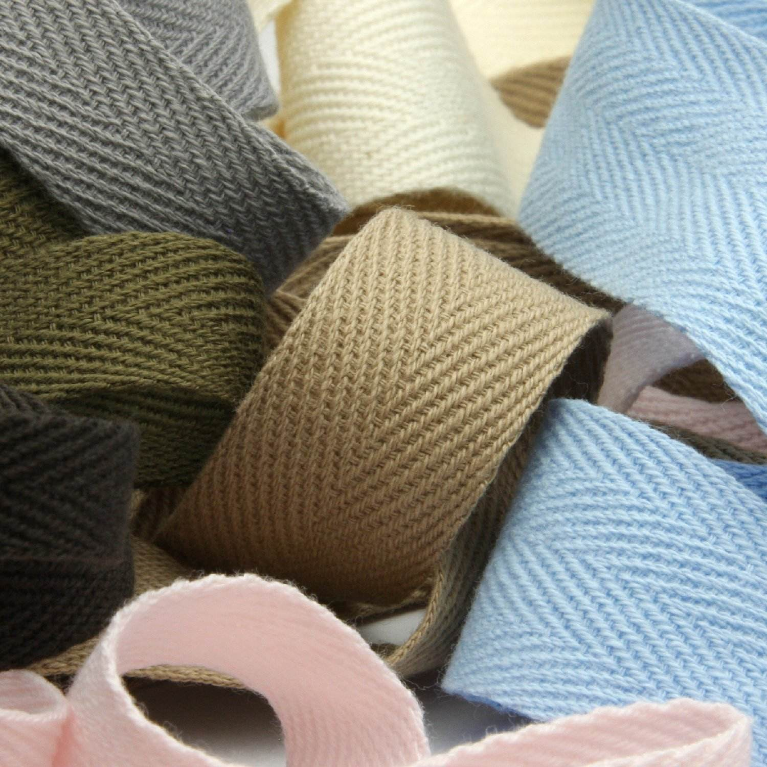 High Quality Double Fold Cotton Bias Webbing Herringbone Tape