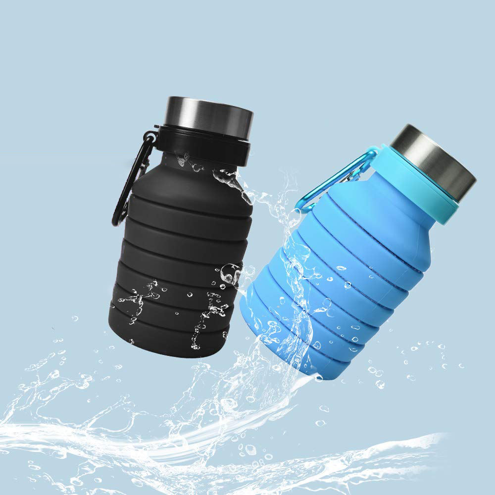 Wholesale Private Label BPA Free Silicone Folding Bottle Collapsible Water Bottle For Camping Travel