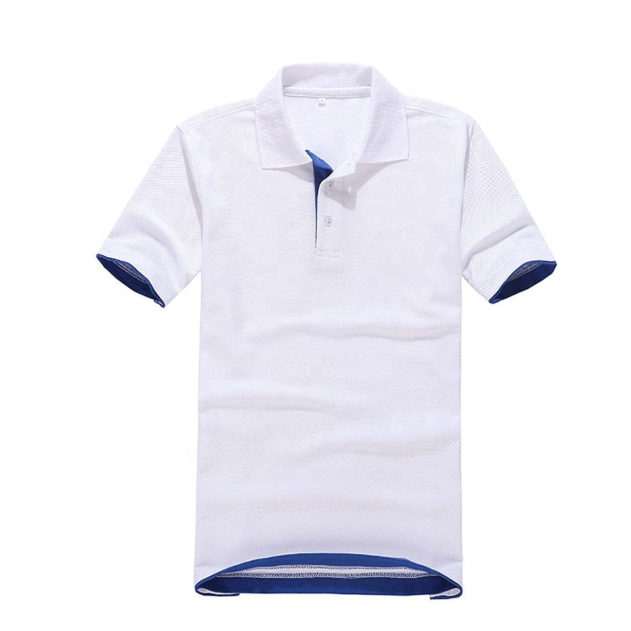 Well Designed Dry Fit Different Color Collar Custom Embroidery Golf Polo Shirt's