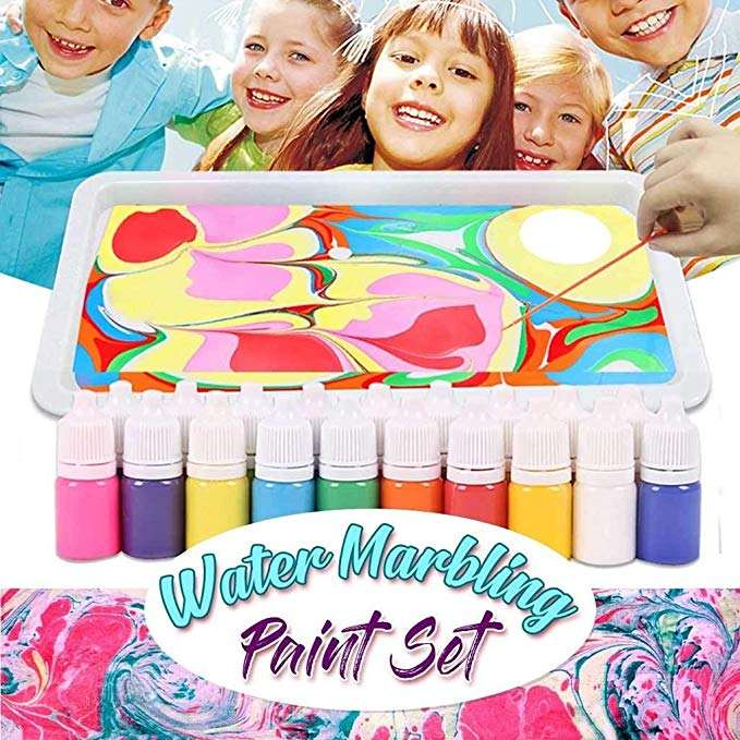 Marbling Paint Kit For Kids and Adults, DIY Drawing Tools Marbling Paint In Water