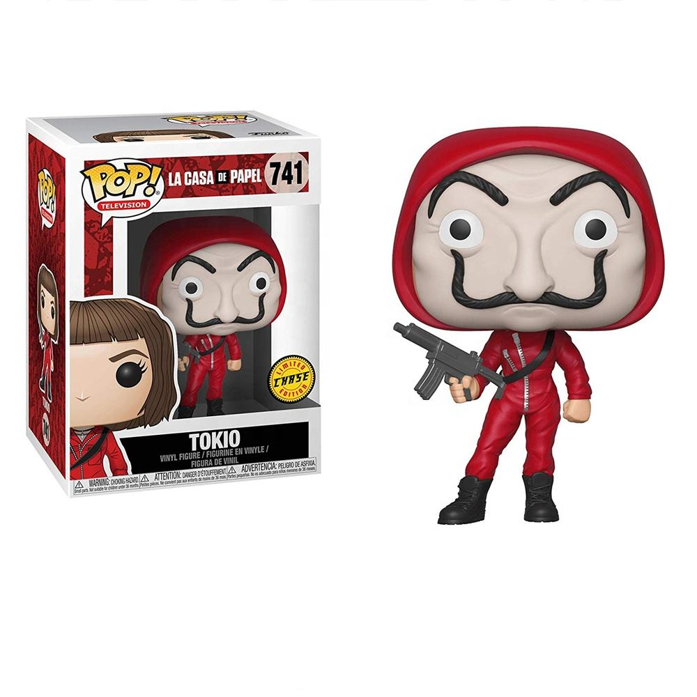 NEW Funk POP La casa de papel Tokio The Professor Denver Berlin Action Figures brinquedos Collection Model Toys GIFT Money Heist