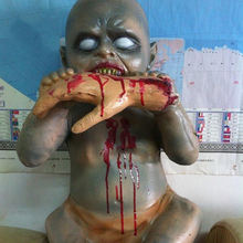Molezu Life Size Baby Zombie Halloween Decoration Prop Haunted House horror Devil Monster Prop