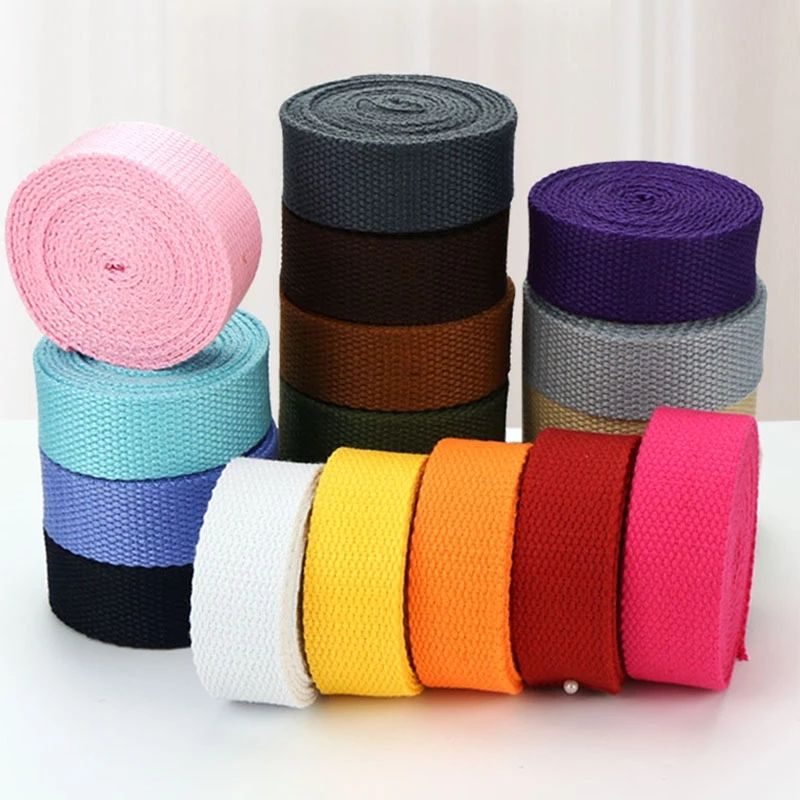 Factory Low Price 25mm Canvas Cotton Webbing Fashion Strap Belt Webbing