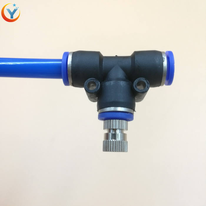 0.1-0.8mm Misting Fogging Spray Quick-connecting Sprinkler Push-in Low Pressure water fog mist Nozzle with Filter
