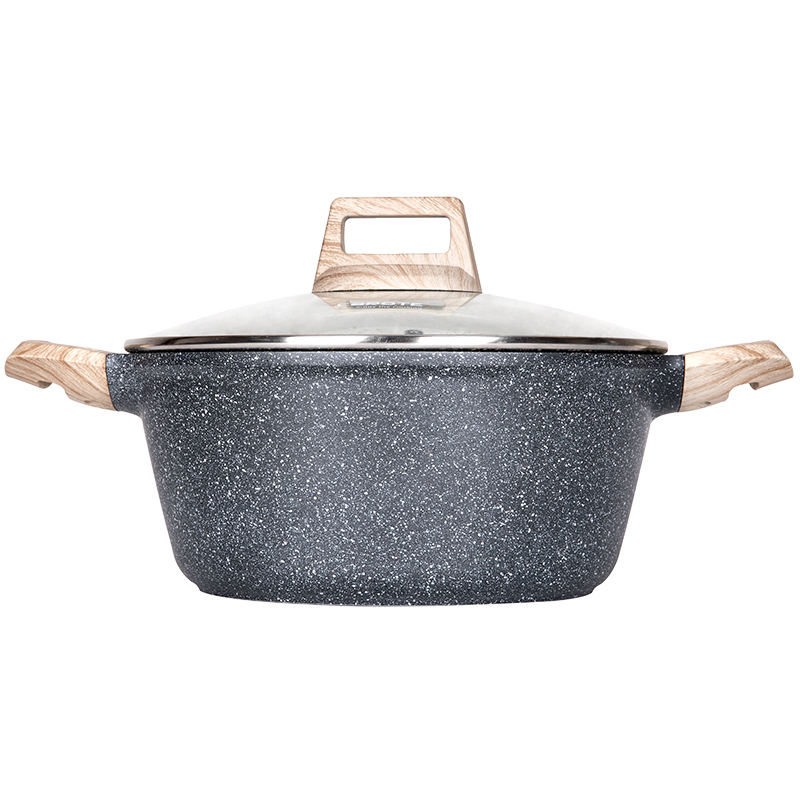 Carote Die Cast Aluminum Soup pot Non Stick Coating Casserole with Induction
