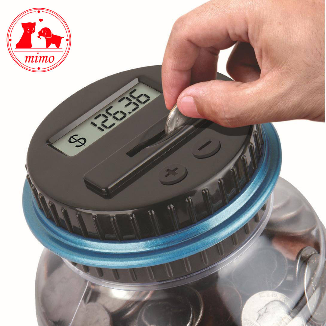 Us Dollar Money Saving Jar Clear Digital Piggy Bank Coin Savings Counter Lcd Counting Money Jar Change Gift For Children Kids