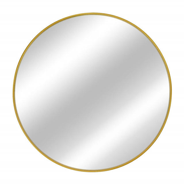 Decorative Modern Stainless Steel frame round mirror brushed round wall mirror