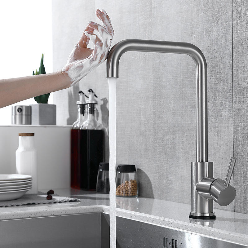 Modern Stainless Steel Single Lever Motion Sensor Water Tap Touch Kitchen Faucets