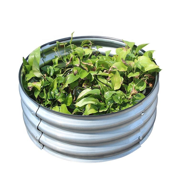 Round galvanized Iron vegetabels planter flower Raised Garden Bed