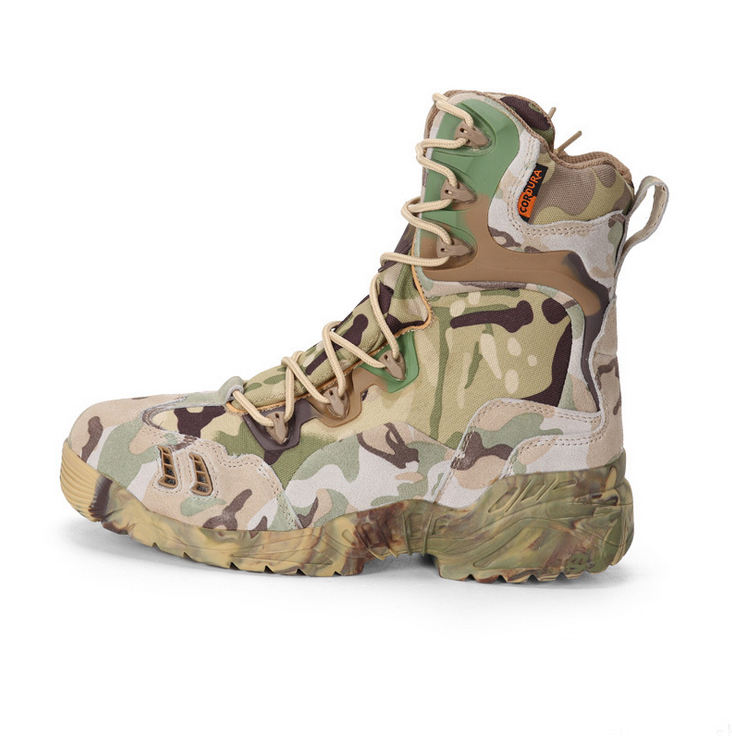 Tactical New Arrived US Army Shoes Camouflage Military Boots with Zipper