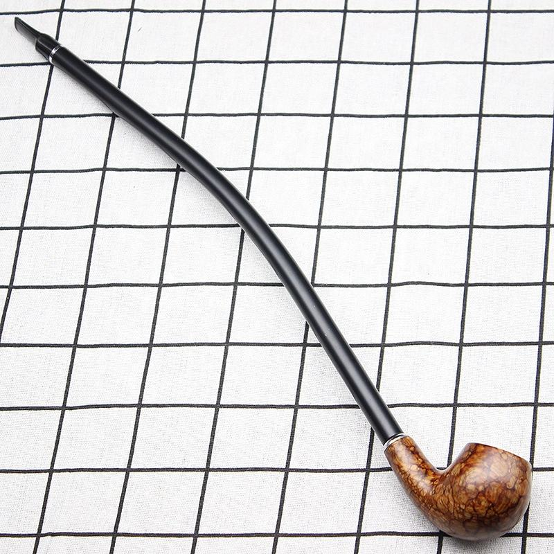 Creative long rod solid wood pipe length 41cm custom smoking pipes pipe tobacco smoking accessories