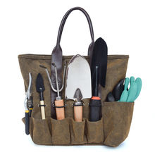 Heavy Duty Outdoor Canvas Muti Pockets Garden Tool Kit Holder Organizer Tote Bag