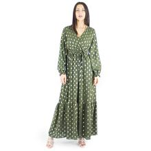 Italian 2020 Spring Summer Autumn custom-made ladies long dress casual with polka dot